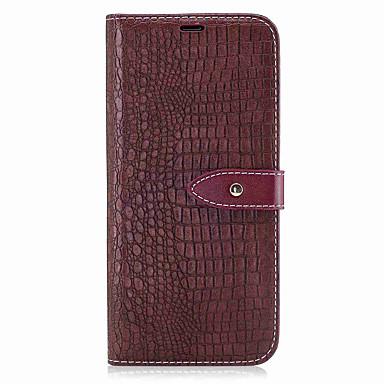 Capinha Para Samsung Galaxy S8 Plus / S8 Carteira / Porta-Cartão / Flip Capa Proteção Completa Sólido Rígida PU Leather para S8 Plus / S8 / S7 edge