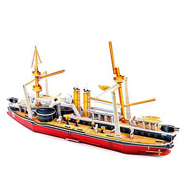 3D Puzzles Jigsaw Puzzle Model Building Kits Toys Famous buildings Ship Architecture 3D DIY Hard Card Paper Not Specified Unisex Pieces