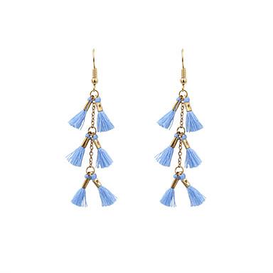 Women's Drop Earrings Jewelry Basic Tassel Fashion Bohemian Adorable Euramerican Chrome Cotton Irregular Jewelry ForWedding Anniversary