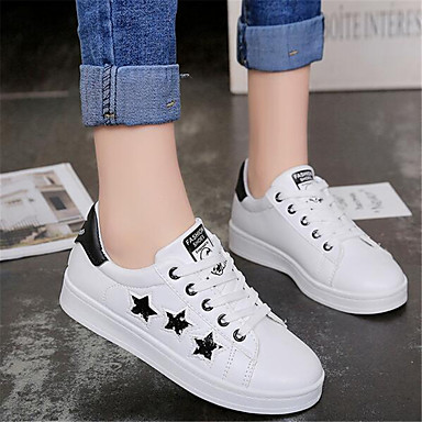 Women's Shoes PU Spring Comfort Sneakers For Casual Pink/White Black/White