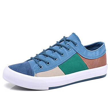 Men's Fabric Spring / Fall Comfort Sneakers Dark Blue / Coffee / Light Blue