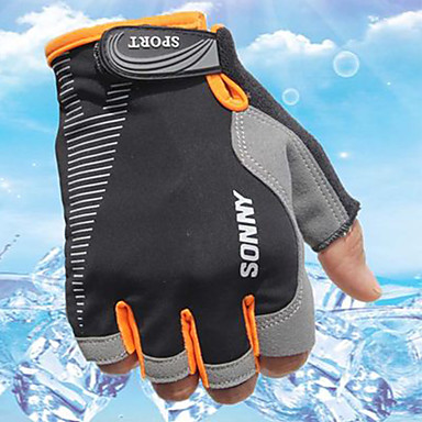 Sports Gloves Bike Gloves / Cycling Gloves Wearable Breathable Durable Sweat-Wicking Protective Fingerless Gloves Cloth Cycling / Bike
