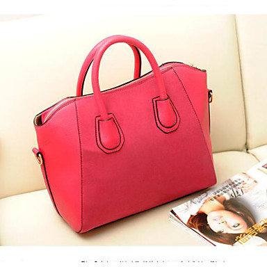 Women Bags All Seasons PU Shoulder Bag for Casual Outdoor Blue Black Red