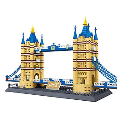 WANTOY Rakennuspalikat Neliö Kuuluisa rakennus Arkkitehtuuri Lontoon silta Tyttöjen Poikien Unisex Lelut Lahja