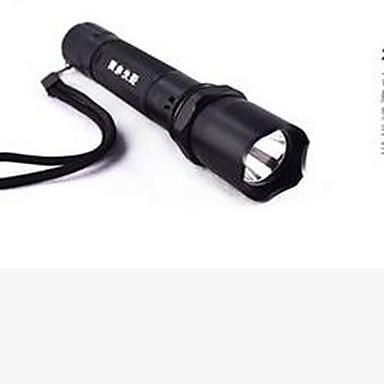 ieftine Lanterne-Manual Lanterne  Manuale LED emițători Stil Minimalist Mini Camping / Cățărare / Speologie Ciclism Multifuncțional Negru