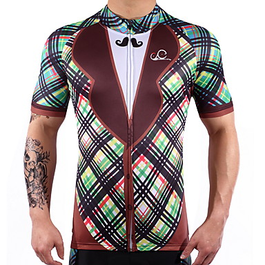 Short Sleeve Cycling Jersey - Gray Bike Quick Dry Spandex, 100% Polyester, Lycra