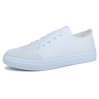 Men's Shoes PU Spring Fall Comfort Athletic Shoes for Outdoor White Black Gray