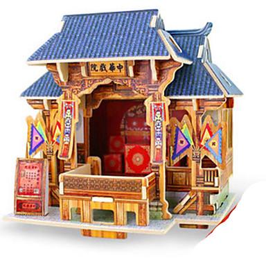 Robotime 3D-puslespill Puslespill Tremodeller Modellsett Arkitektur 3D GDS Tre Klassisk Barne Voksne Unisex Gave