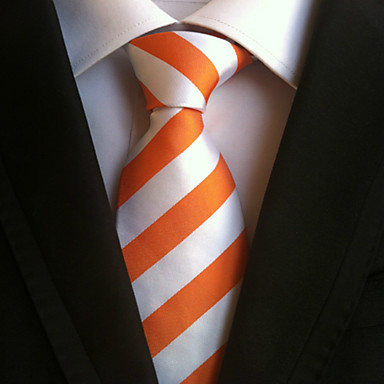 Herre Stripet Halsplagg Slips,Alle årstider Stripet polyster Oransje