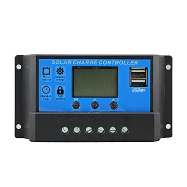 Carregador de controle solar 10a com saída USB usável 5v carregador móvel 12 / 24v painel solar regulador de carga da bateria 10 amperes