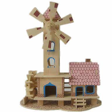 3D építőjátékok Fejtörő Wood Model Modeli i makete Népszerű épület Ház DIY Fa Klasszikus Uniszex Ajándék