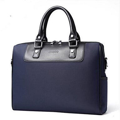 Men Shoulder Bag Polyester All Seasons Casual Outdoor Round Zipper Blue Coffee