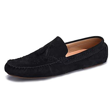 Miesten kengät Nahka Kevät / Syksy Comfort Mokkasiinit Laivaston sininen / Tumman ruskea / Khaki / Tupsuilla / Juhlat