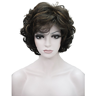 Synthetic Wig Women's Wavy Brown Synthetic Hair Brown Wig Short Capless Medium Brown / Strawberry Blonde StrongBeauty