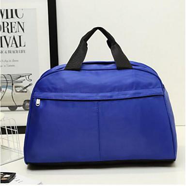 Unisex Travel Bag Oxford Cloth Polyester All Seasons Casual Outdoor Rectangle Zipper Black Dark Blue Aquamarine