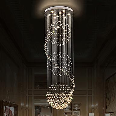 10-Light Crystal Chandelier Downlight - Crystal, Bulb Included, 110-120V / 220-240V Bulb Included / GU10 / 10-15㎡
