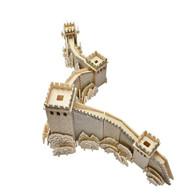 3D Puzzles Jigsaw Puzzle Wood Model Model Building Kit Famous buildings Architecture 3D Simulation DIY Wood Natural Wood Classic Chinese