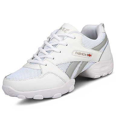 Miesten kengät PU Kevät Syksy Comfort Lenkkitossut varten ulko- Valkoinen Musta
