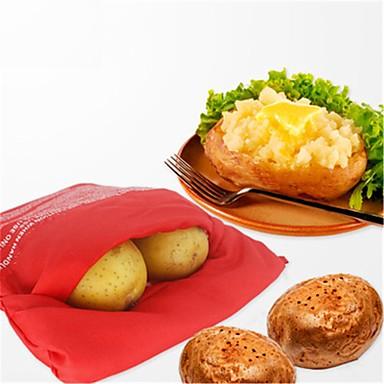 Ofen Mikrowelle gebackene rote Kartoffel Tasche für schnelles schnell in nur 4 Minuten Kartoffeltaschen