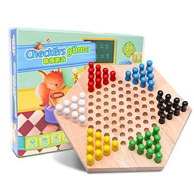 Jogos de Tabuleiro Jogo de Xadrez Jogos Pai e Filhos Tamanho Grande Crianças Adulto Unisexo Brinquedos Dom / De madeira