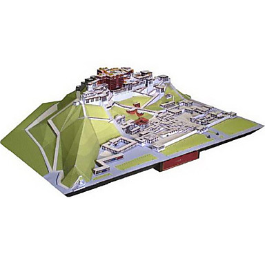 3D Puzzles Paper Model Paper Craft Model Building Kit Castle Famous buildings Architecture 3D DIY Classic Unisex Gift