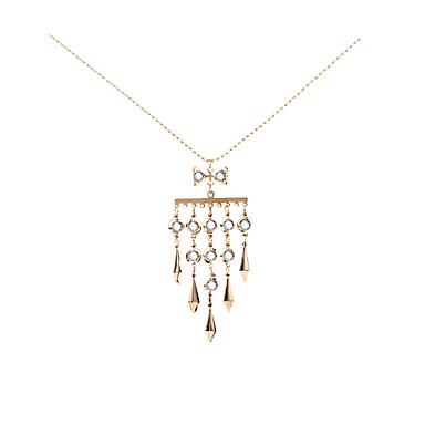 Mulheres Colares com Pendentes - Personalizada, Geométrico, Original Dourado Colar Para Presentes de Natal, Casamento, Festa