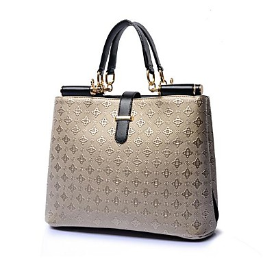 Women Bags All Seasons PU Shoulder Bag for Casual Outdoor Blue Champagne