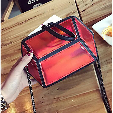 Women Bags All Seasons PU Shoulder Bag for Casual Outdoor White Black Red
