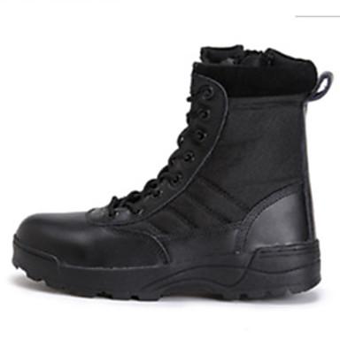 Homens sapatos Tule Outono Inverno Tira no Tornozelo Botas Botas Curtas / Ankle Cadarço para Atlético Escritório e Carreira Ao ar livre