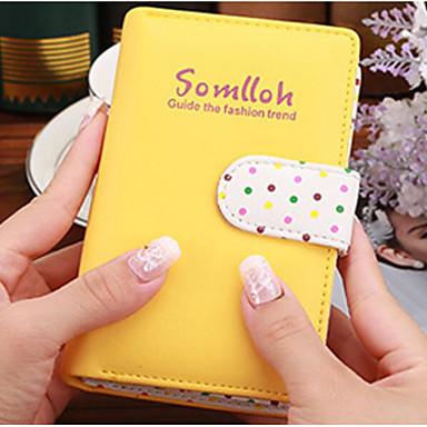 Unisex Checkbook Wallet PU All Seasons Casual Square Zipper Fuchsia Light Yellow Blushing Pink