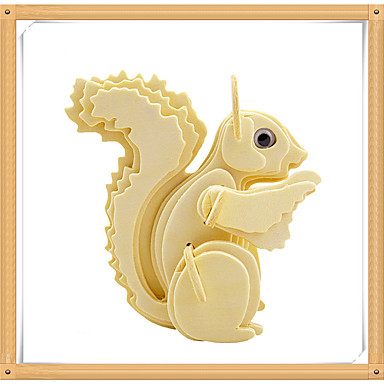 voordelige 3D-puzzels-3D-puzzels Legpuzzel Modelbouwsets Eekhoorn Dieren DHZ Puinen Kinderen Speeltjes Geschenk