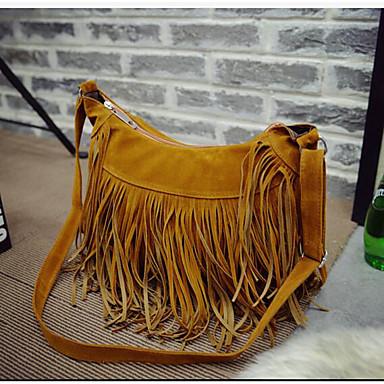 Women Bags PU Shoulder Bag for Casual Outdoor All Seasons Black Yellow Brown