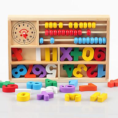 Ferramentas de Ensino Montessori Blocos de Construir Ábaco Brinquedos Matemáticos Brinquedo Educativo Quadrada Amiga-do-Ambiente Educação