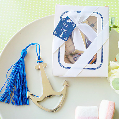 Practical Nautical Bookmark and Bottle Opener Wedding Favors