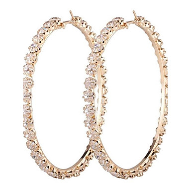 Dame Dråpeøreringer Syntetisk Diamant Mote Oversized Legering Sirkelformet Smykker Til Annen Daglig Avslappet Formell