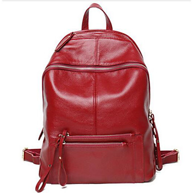 Women's Bags Cowhide Backpack for Casual All Seasons Blue Black Wine