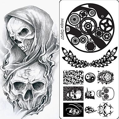 1Pcs Nail Stamping Image Template Plates Stamper Scraper