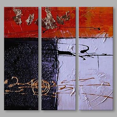 Håndmalte Abstrakt Lodrett, Kunstnerisk Lerret Hang malte oljemaleri Hjem Dekor Tre Paneler