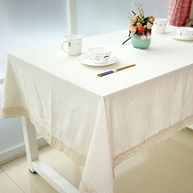 Cotton Blend Table cloths Print Table Decorations 1 pcs