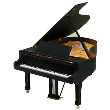 3D-puslespill Papirmodell Papirkunst Piano Musikkinstrumenter simulering GDS Hardt Kortpapir Klassisk Barne Unisex Gave