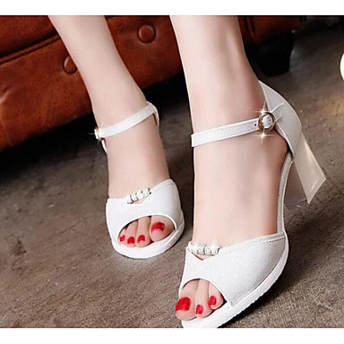 Women's Shoes PU Summer Comfort Sandals For Casual White Blushing Pink