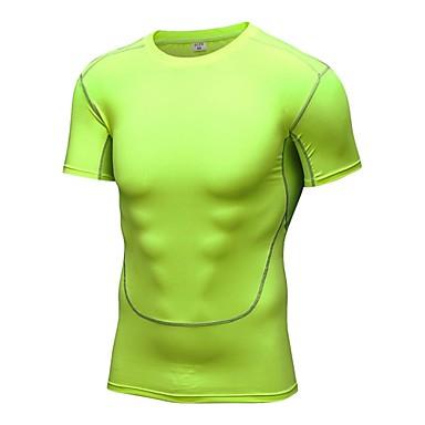 Homens Camiseta de Corrida - Cinzento, Vermelho Claro, Fruta verde Esportes Camiseta / Pulôver / Blusas Exercício e Atividade Física, Esportes Relaxantes, Basquete Manga Curta Roupas Esportivas