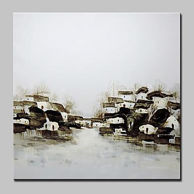 Hang-Painted öljymaalaus Maalattu - Maisema Abstrakti Moderni Kangas