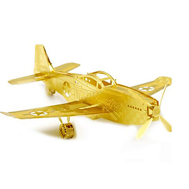 3D Puzzles Metal Puzzles Model Building Kit Novelty Fighter Aircraft DIY Aluminium Metal Classic Unisex Gift