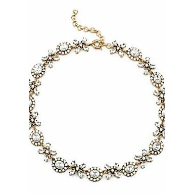 Dame Kjedehalskjeder Uttalelse Halskjeder Rhinstein Sirkelformet Geometrisk Form Legering Luksus Unikt design Kjærlighed Smykker Til