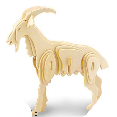 Quebra-Cabeças 3D Quebra-Cabeça Quebra-Cabeças de Metal Modelos de madeira Brinquedos de Montar Animal 3D Faça Você Mesmo Madeira Madeira