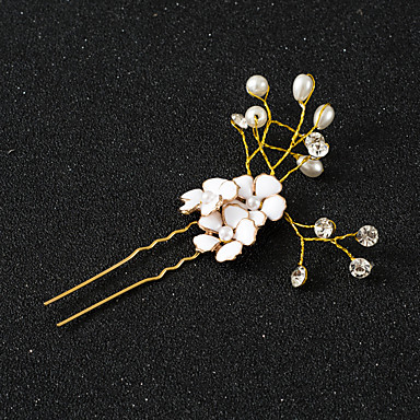 Alloy Hair Tool / Hair Stick / Hair Pin with 1 Wedding / Special Occasion / Anniversary Headpiece