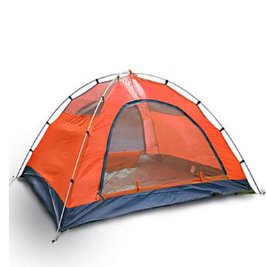 3 - 4 person Tent Double Camping Tent Outdoor Fold Tent Keep Warm Rain-Proof for Camping / Hiking Other Material