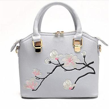 Women Bags PU Shoulder Bag for Casual Outdoor All Seasons Black Blushing Pink Gray