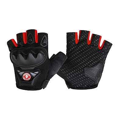 WOSAWE Sports Gloves Bike Gloves / Cycling Gloves Wearable Protective Skidproof Fingerless Gloves Road Cycling Cycling / Bike Mountain